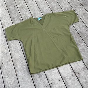 Olive Green Scrub Top